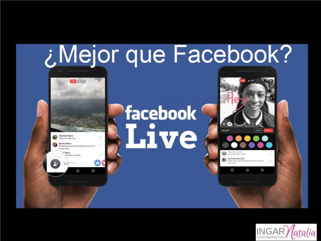 ¿Mejor que Facebook? Facebook Live